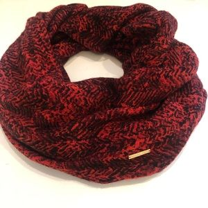 Micheal Kors Women's Black  & Red Infinity Scarf